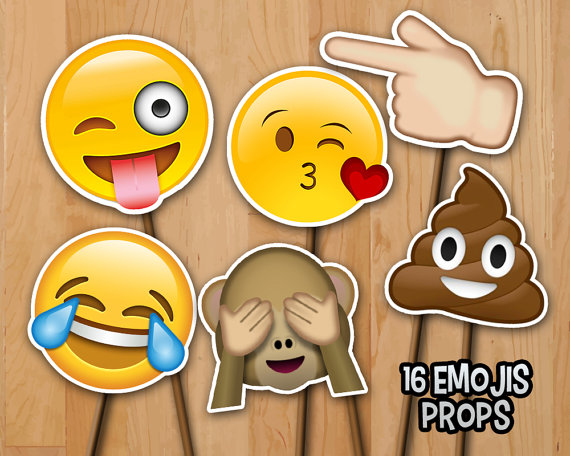 picture relating to Printable Emoji Photo Booth Props called Greatest 10 Etsy image booth props - Roxbury Booth